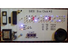 PIC16C57 microcontroller dice clock