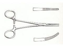 "Forceps Kelly-Rakin Clamping Curved 6.5"" ss"